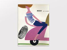 Display | Pirelli Per Lo Scooter Advertisement Lora Lamm | Collection #layout