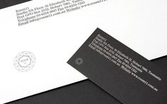 Room 11 Architects | SouthSouthWest #stationary #identity #branding #blackwhite