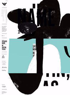AIGA Austin, Texas. 2014. poster typography layout