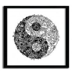YinYang Doodle by Lei Melendres #print #art