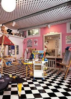 20+ Cool Basement Ceiling Ideas #basement #interior #architecture #ceiling
