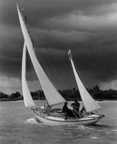 boatporn:Venture.Source: albertstrange.org #sailing #sea #boat