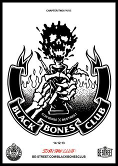 Poster BlackBonesClub 1_FINAL #bones #converse #black #club