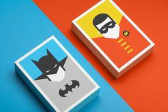 Colorful, Minimalist Postcards Of Superheroes #robin #batman #colorful #superheroes #minimalist #postcards