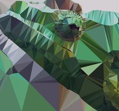Delaunay Triangulation #triangleanimals #happyanimals #chameleon #melidea #wwwmelideastudiocom