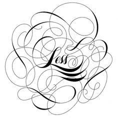 CUSTOM LETTERS, BEST OF 2010 DAY 2 — LetterCult #calligraphy #less #typography