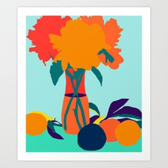 The Greed For Fruit Misses The Flower #painting #botanical Art Print