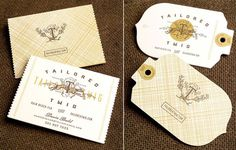 Tailor twig by Eric Kass Funnel via mr cup.com #logo #branding #identity #letterpress #mark #tag #eric kass