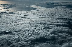 Sea of Clouds: Expansive Cloud Formations Over the Mediterranean and Caribbean Seas by Jakob Wagner #ocean #sun #clouds #beautiful #fly #aer