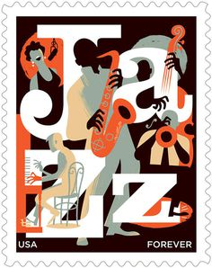 Jazz Stamp for USPS on Behance #illustration #stamp #music #jazz