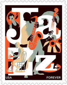 Jazz Stamp for USPS on Behance