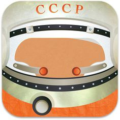 Non-Existing Apps: GAGARIN #first #icon #in #ussr #gagarin #space #illustration #cccp #man