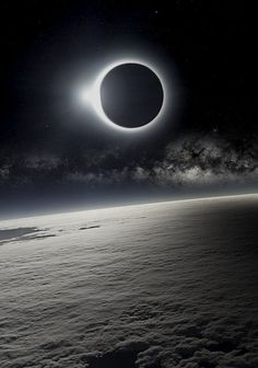 neuromaencer:Solar Eclipse as Seen from Earth's Orbit #light #planet