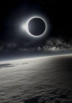 neuromaencer:Solar Eclipse as Seen from Earth's Orbit