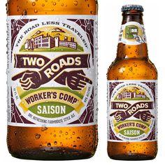 two roads, beer, bottle, saison