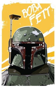 Fett Art Print by Matt Fontaine | Society6 #vector #bobafett #digital #starwars #scifi