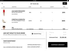 Barneys New York #ipad #ui #checkout