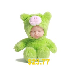 Pig #Pendant #with #Plush #Doll #for #Decoration #- #GREEN