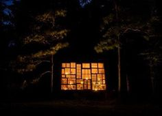 """""""The house is an experience at night,"""" Nick Olson said. """"The fireflies start at the ground and merge to the stars up above."""" #house"""