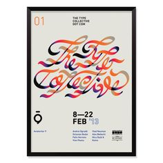01—The Type Collective on Behance #the #collective #poster #type #typo