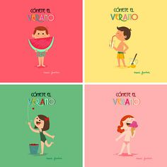 Cómete el Verano on Behance #verano #summer #illustration