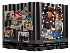 Captured Moments Photography Presentation Folder Template (Front and Back View)
