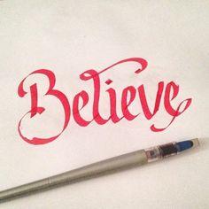 Believe Lettering #copic #marker #lettering #believe #handdrawnlettering