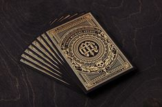 Gold Foil Business Card by Chad Michael - JOQUZ #branding #business #card #design #gold #cards #foil