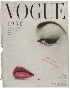 blumenfeld-vogue-1 #vogue #woman #print #design #lips #eyebrow #eye #vintage #blumenfeld #fashion #magazine #beauty