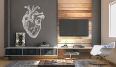 #wall #paint by teehaus.co #heart #mural #draw