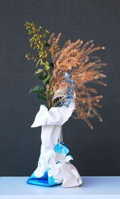 M O O D #vase #branches #papier #paper #flowers