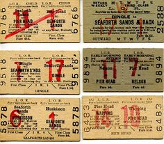 Vintage Ticket Stubs #vintage
