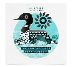 Shitty Barn Poster #4onthefloor #gig #retro #duck #illustration #adam #poster #faucett #nate #collage #koehler