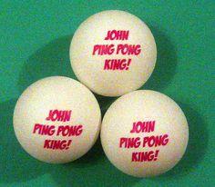 Personalized Ping Pong Balls Free USA Shipping #pong