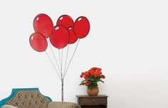 Butter #red #sticker #home #wall #plant #balloon #balloons
