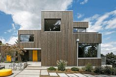 Energy Efficient Home Built on a Steep Slope Lot with Sweeping Views of Lake Washington