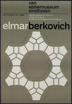 Elmar Berkovich Van Abbemuseum Eindhoven, designer / art director: Crouwel, Wim, #poster
