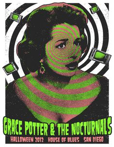 GigPosters.com Grace Potter #halftone #poster #duotone