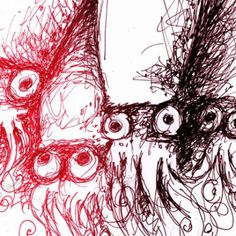 Mmmm calamari.... www.anditisgood.com #squids #ink #food #illustration #seafood #pen #drawing #sketch