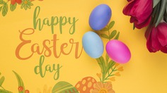 Happy easter day Free Psd. See more inspiration related to Flower, Mockup, Floral, Typography, Spring, Leaves, Celebration, Happy, Font, Holiday, Mock up, Easter, Plant, Drawing, Religion, Egg, Painting, Lettering, Traditional, Test, Tulip, View, Up, Happy easter, Day, Top, Top view, Eggs, Cultural, Tradition, Mock, Seasonal and Paschal on Freepik.