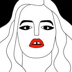 Georgia May Jagger #illustration #drawing