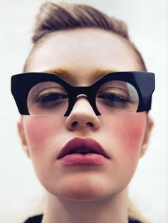 MIU MIU, RASOIR GLASSES: by clifford loh for vulture magazine. #fashionglasses #miumiu