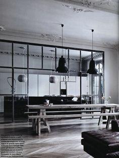 Lotta Agaton: Contrasts #interior #design #decor #kitchen #deco #decoration