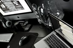 On & Beyond - Part 3 #wood #dark #mac #workspace