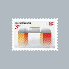 Space stamp Anni 2 #stamp #specialmagazin #space #spaceship #illustration #postal #future