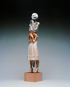 Unusual Sculptures of People and Skeletons Chiseled from Wood by Yoshitoshi Kanemaki