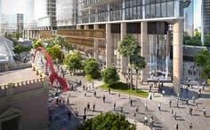 Exterior view of the Parramatta Square 6 & 8 Tower