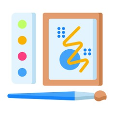 See more icon inspiration related to art, paint, brush, watercolors, art and design, Watercolor, paint brush, painting and drawing on Flaticon.