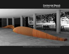 Interior Centennial Bench Design at Georgia Tech Furniture #interior #design #decor #home #furniture #architecture