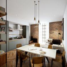 Michaelis Boyd #interior #brick #design #living #clean #minimalist